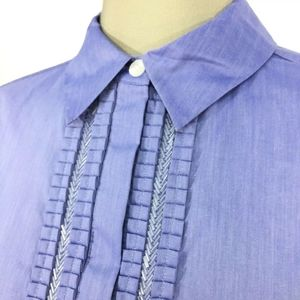Beautiful beaded detail button up blouse